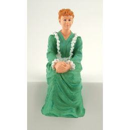 Resin Sitting Victorian Lady