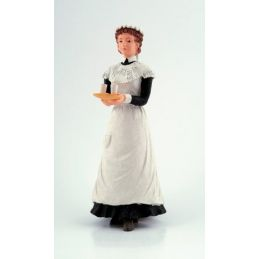 1/12th Scale Dolls House Maid With Tray