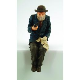 12th Scale Grandfather Sitting Resin Figure