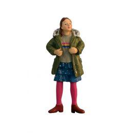 Modern Girl with Green Coat Dolls House Figure