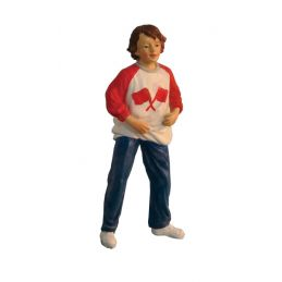 Modern Boy with Red and White Jumper Dolls House Figure