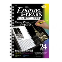 Engrave and Learn Fabulous Places Book