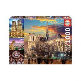 Notre Dame Collage 1000 piece Jigsaw Puzzle