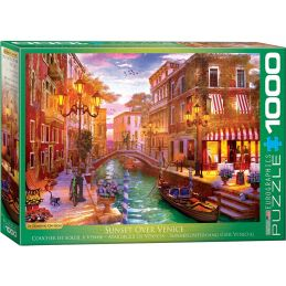 Eurographics Sunset Over Venice 1000 Piece Jigsaw