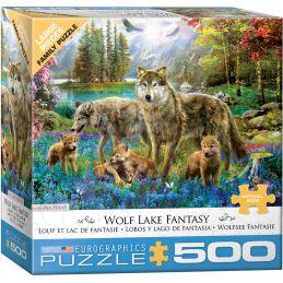 Eurographics Wolf Lake Fantasy 500 Piece Jigsaw