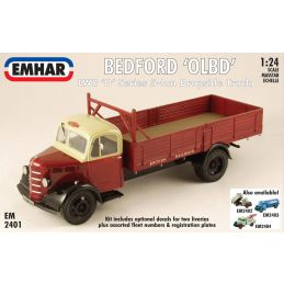 Emhar Bedford OLBD LWB 'O' Series 5-ton Dropside Truck 1:24th Scale Detailed Model Kit