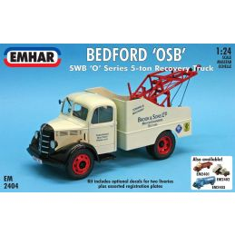 Emhar Bedford 'OSB' SWB 'O' Series 5-ton Recovery Truck 1:24th Scale Detailed Model Kit