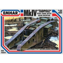 Emhar MkIV Tadpole WWI Tank with Rear Mortar 35th Scale Plastic Model Kit