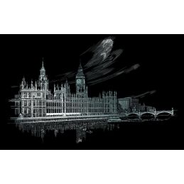 Engraving Art Big Ben & Parliament
