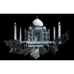 Engraving Art Taj Mahal Silver