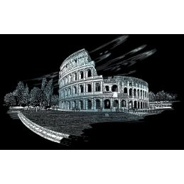 Engraving Art Colosseum Silver
