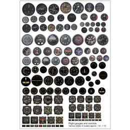 Becc Flight Gauges and Controls Multi Pack Decals