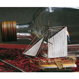 Amati Dutch Golden Yacht Ship in a Bottle