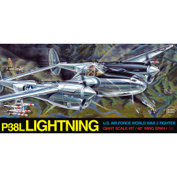 Guillows P-38 Lightning Balsa Plane Kit