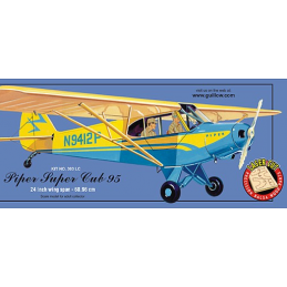 Guillows Piper Super Cub 95 Balsa Wood Airplane Kit