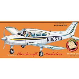 Guillows Beechcraft Musketeer Balsa Wood Airplane Kit