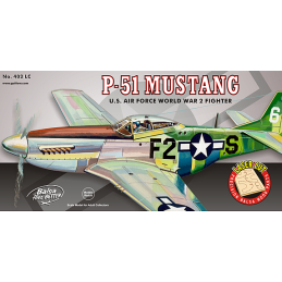 Guillow P-51 Mustang Wooden Aircraft Kit