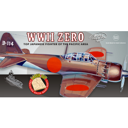 Guillows WWII Mitsubishi Zero Japanese Balsa Model Airplane Kit