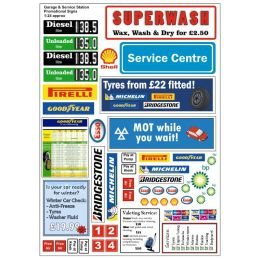 Garage and Service Station Promotional Signs 1:24 and 1:43