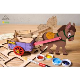 UGears 3D Colouring Model Donkey