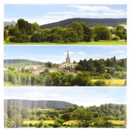 Gaugemaster British Town Large Photo Backscene (2744x304mm)