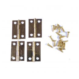 Mini Hinge Collections - 8mm X 5mm (10) (brass Plated)