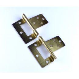 50mm Cranked Screw Fix Hinges (pair)