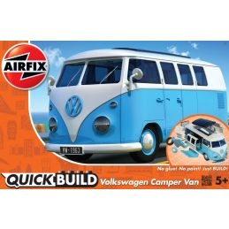 Airfix QUICKBUILD VW Camper Van Blue Plastic Model Kit