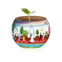 Red Carpet of Life 3D Jigsaw Flowerpot