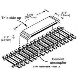 Kadee Delayed Between the Rails Magnet Uncoupler Code 100(1pr)