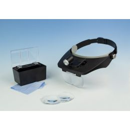 LED Headband Magnifier Kit with Bi-Plate Magnification