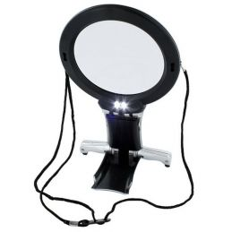 LightCraft Dual Purpose Neck and Desk Magnifier with Twin Bulb LED DayLight Light