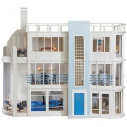 Malibu Beach House Kit and Sun Lounge Kit from Dolls House Emporium - Sun Lounge Kit Unpainted
