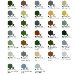 Tamiya Acrylic Flat Paints (10ml) XF51-XF83