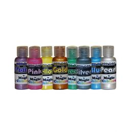 Magic Colours 100% Edible Metallic Paints for Cake Decorating