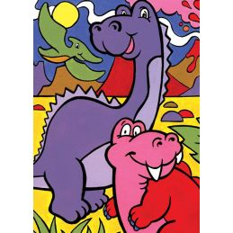 First Painting By Numbers Dinosaurs