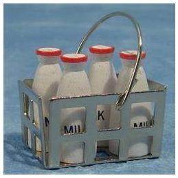 Milk Bottles in Crate
