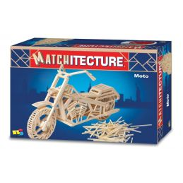 Matchitecture Motorcycle Matchstick Model Kit