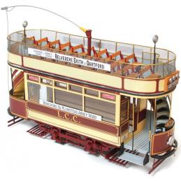 Occre London L.C.C.106 Double Decker Tram Model Kit 53008