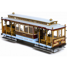 Occre San Francisco Cable Car 1:24 Scale Wood and Metal Model Kit
