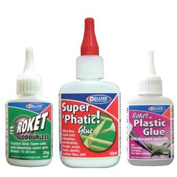 Deluxe Materials Low Odour and Odourless Glue Pack (3)
