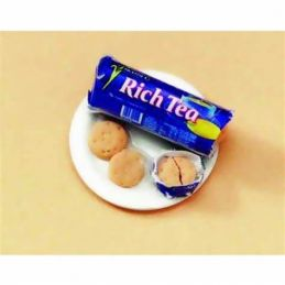 Rich Tea Biscuits On Plate