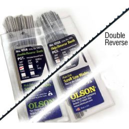 Olson PGT Double Reverse Tooth Scroll Saw Blade Multi Pack of 18