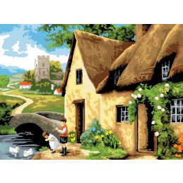 Painting By Numbers Cottage By The River