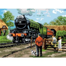 Painting By Numbers Steam Train