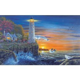 Painting By Numbers Waterside Lighthouse