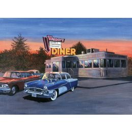 Painting By Numbers 50s Diner