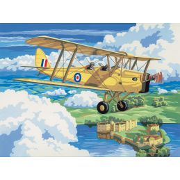 Painting By Numbers Nostalgic Plane Tiger Moth
