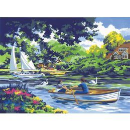 Painting By Numbers Boating on the River