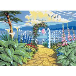 Painting By Numbers Garden Overlooking The Sea